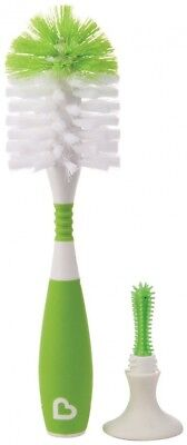 Munchkin Deluxe Bottle And Teat Brush With Textured, Easy-Grip Handle - Colours