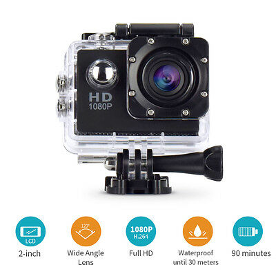 SJ4000 1080P HD Waterproof Sports DV Video Action Camera as Gopro Black Color