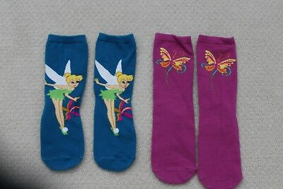 Women's Tinkerbell socks, size small - 2 pairs