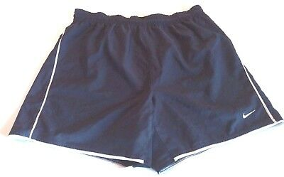 Men's Nike Athletic Shorts Size S Small Navy Blue Fit Dry Dri White Team