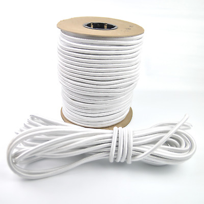"3/8"" White Shock Cord Marine Grade Bungee Heavy Duty Tie Down Stretch Rope Band"