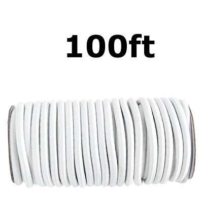 100ft 3/16 White Shock Cord Marine Grade Bungee Heavy Duty Tie Down Stretch Rope
