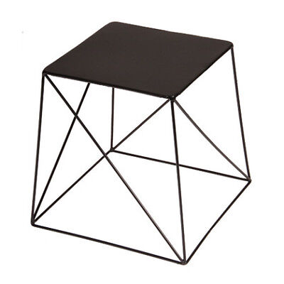 Ironrod Side Table in Black, Elm
