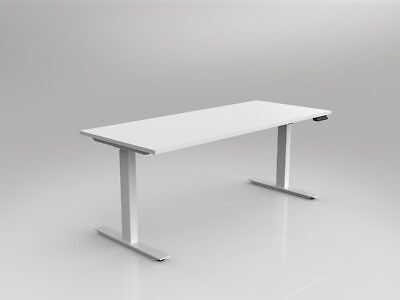 Nimble - Sit & Stand Height Adjustable Desk Automatic / Electric - White Frame