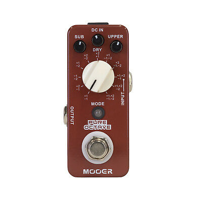New Mooer Pure Octave Polyphonic Micro Electric Guitar Effects Pedal