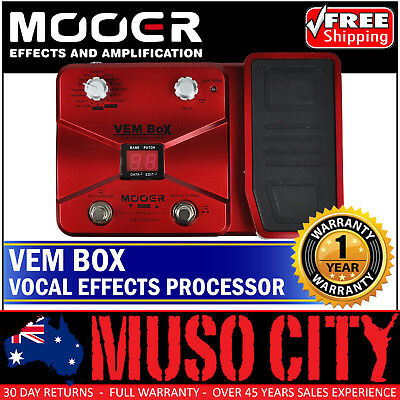 New Mooer Vem Box Vocal Multi Effects Processor with Expression Pedal
