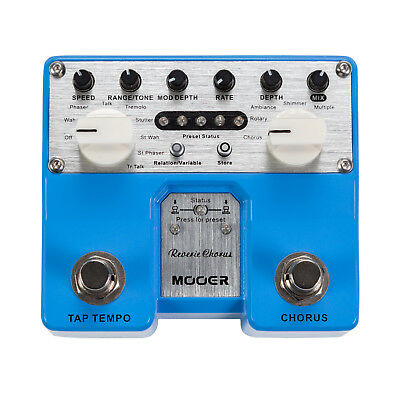 New Mooer Pro Twin Reverie Chorus Multi Effects Electric Guitar Pedal