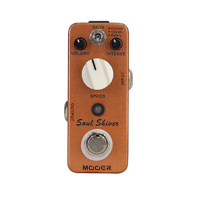 New Mooer Soul Shiver Chorus, Vibrato & Rotary Electric Guitar Effects Pedal