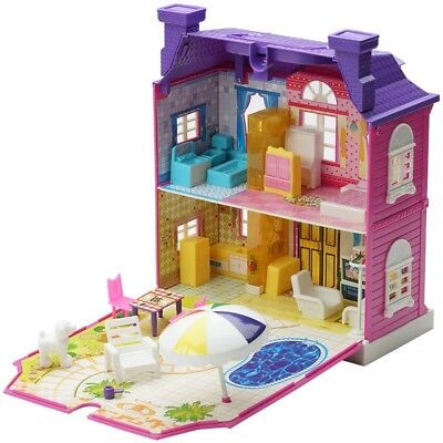 Pink Villa Children Toy Luxury House Music&Light House Doll House for Peppa Pig