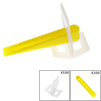700 Tile Leveling System (500 Clips + 200 Yellow Wedges ) Tile Leveler Spacers