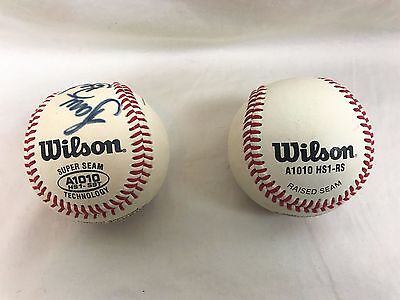 Baseball Ball Wilson Official Major League 2 Balls Signed