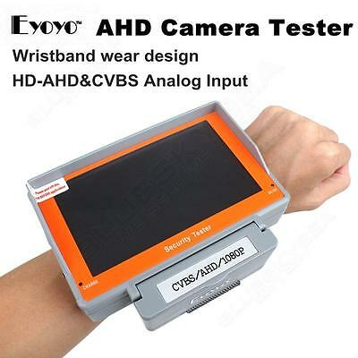 "EYOYO 5"" 1080P HD-AHD/CVBS CCTV Camera Monitor Tester Video Test Tool 12V-Outpt"