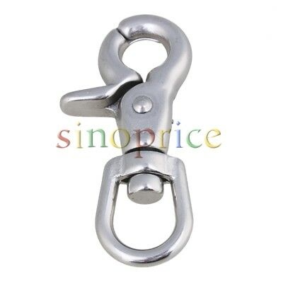 Silver Stainless Steel Spring Fastener Swivel Eye Lobster Clasps Clip Fastener
