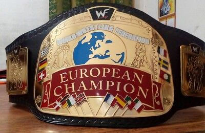WWF EUROPEAN CHAMPIONSHIP ADULT SIZE TITLE BELT REPLICA (with Free Box )