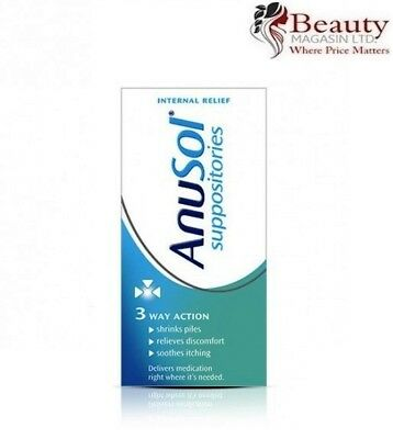 Anusol Haemmorhoid Piles Treatment   3 Way Action   24 Suppositories