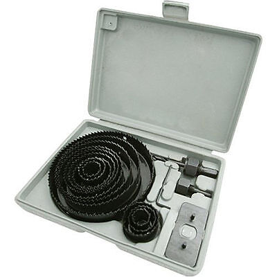 Hole Saw Cutter Kit With Storage Case 16pc 16 Set Metal Wood 19127mm Piece