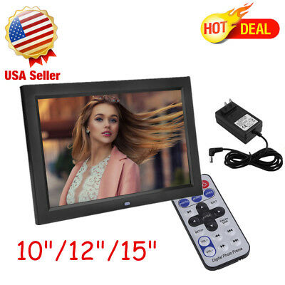 """10/12/15""""HD LCD Digital Photo Frame with Multimedia Playback With Touch Butto WN"""