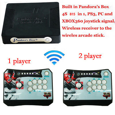 Pandora Box 4S Wireless 815 in 1 Game Arcade Sticks Controller Fit  for PS3 XBOX