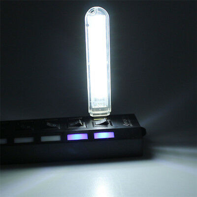 Mini 8 LED USB Stick Lampe USB-Licht Leseleuchte PC Notebook Laptop Powerbanks