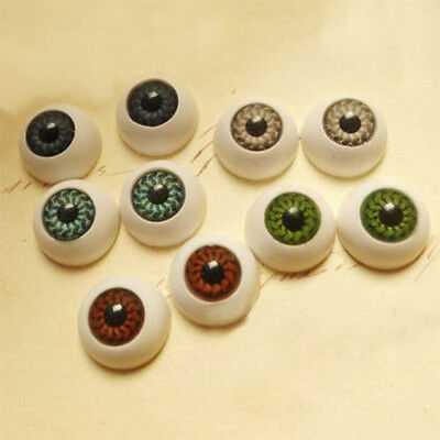 8pcs Eyes Eyeballs Fit Mask Skull Props Party Pack Half Round For Halloween
