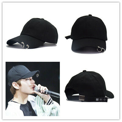 Black KPOP BTS LIVE THE WINGS TOUR Cap Bangtan Boys Ring Adjustable Baseball Hat