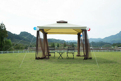 Garden Metal Gazebo Patio 2-tier Yard Canopy Party Tent Outdoor W/ Mosquito Net & HEXAGONAL PATIO Gazebo Outdoor Canopy Party Tent Activity Event w ...