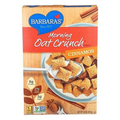 Barbara's Bakery Morning Oat Crunch Cereal - Cinnamon - Case Of 6 - 410ml 410ml