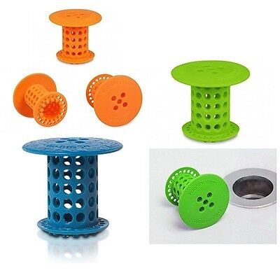 Kitchen Silicone Bath Pool Collector Cleaning Strainer Anti-blocking Hair Filter