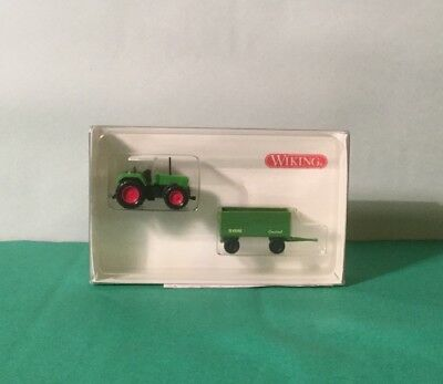 N Scale Wiking Tractor & Trailer for layouts