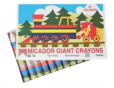 Micador Giant Hexagonal Crayons Pack of 12
