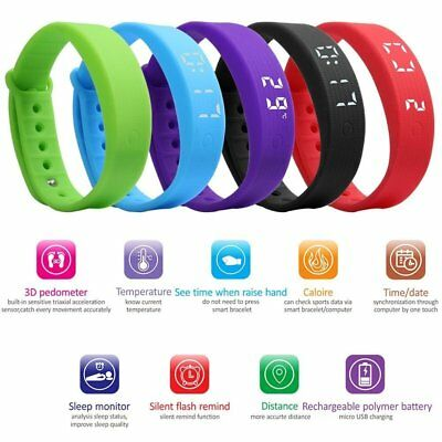 Children Watch Bracelet Kid Pedometer Fitness Band Activity Tracker Fitbit Style