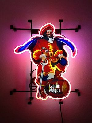 "New Captain Morgan Rum Pub Bar Neon Light Sign 19""x15"""