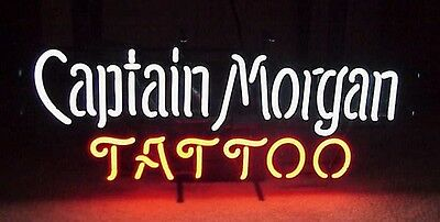 "New Captain Morgan Tattoo Rum Beer Pub Neon Sign 17""x14"""