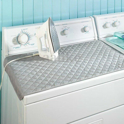 Magnetic Ironing Mat Laundry Pad Dryer Cover Board Heat Resistant Blanket Chic