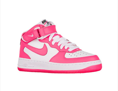 NWT Nike Girls Air Force 1 MID (GS) Hyper Pink/White Kids Shoes Sz Youth 4.5-7