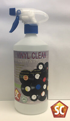 Vinyl Record Cleaning Fluid, Anti-static cleaner, 750ml