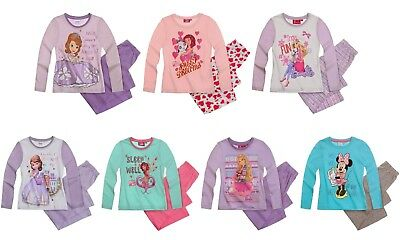 Girls Official Various Disney Long Sleeve Pyjamas Set PJs Trousers and T Shirt