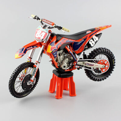 1/12 scale No.84 JEFFREY REDBULL KTM SXF250 Motocross Motorcycle Die cast model