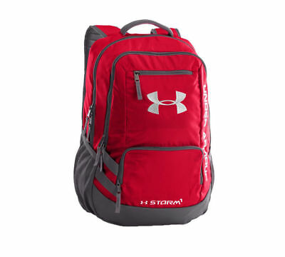 New Under Armour Red Team Hustle II Backpack Team School Book Bag 1272782-600
