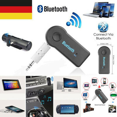 Bluetooth Audio Receiver KFZ Adapter AUX Kabel klinke USB Empfänger 3.5mm DE