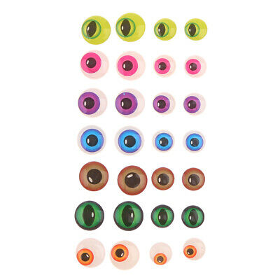 5sets Dolls Bear Animal Googly Eyes DIY Stick on Craft Kids Toy Gift 10&14mm