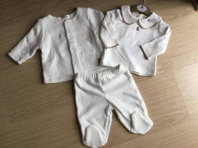 Spanish Style Unisex 3 Piece Set In Ivory By Mintini Baby