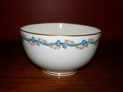 Antique 19th Century Unmarked English Bowl w/ Floral Border - Mintons?