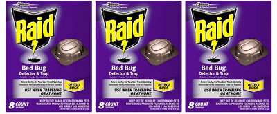 Raid Bed Bug Detector And Trap / 8 Count Pack / Use When Traveling Or At Home