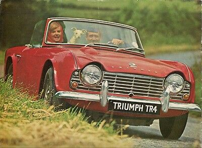 TRIUMPH TR4 1961-65 UK Market Sales Brochure