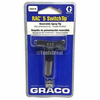 Graco Rac 5 286615 Switch Tip Paint Spray Tip Size 615