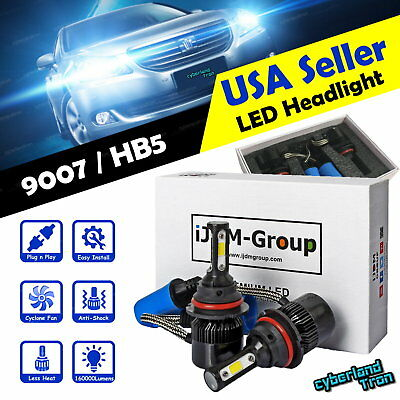 2x 9007 HB5 COB CREE LED Headlight 6000K 160000LM Bulbs for 2018 Nissan Frontier