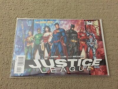 JUSTICE LEAGUE #1 - Jim Lee - HTF - 2nd print variant DC New 52