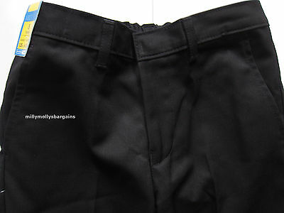 New Boys Marks & Spencer Black Classic Leg Wool School Trousers Age 8 Years x 1