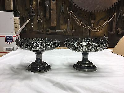 Rogers Bros Pair Of Extra Heavy Plate Candy Dishes ?